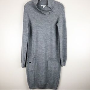Lacoste Grey Sweater Dress Vintage Size 36